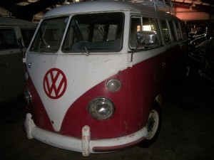 1967 VW van red white