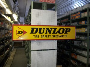 Dunlop tire tin sign